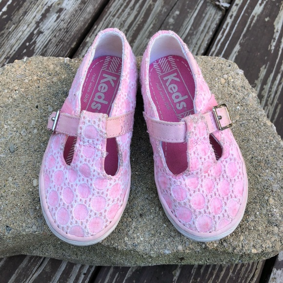 Keds Other - Keds Little Girl Pink T-Strap Sneakers